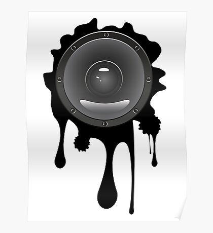 Grunge Audio Lautsprecher Poster