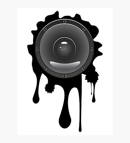 Grunge Audio Lautsprecher Fotodruck