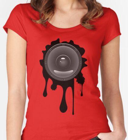 Grunge Audio Lautsprecher Tailliertes Rundhals-Shirt