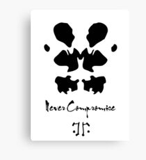Never compromise Canvas Print