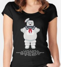 Stay Puft - Ghostbusters Pixel Art Women's Fitted Scoop T-Shirt