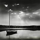 Reflections - Boat at Brancaster Staithe by Richard Flint