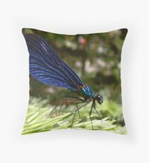 Blue wings Dragonfly #2 Throw Pillow