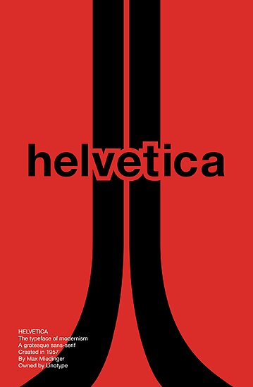 Helvetica - Typeface Poster Series by Nick Mann