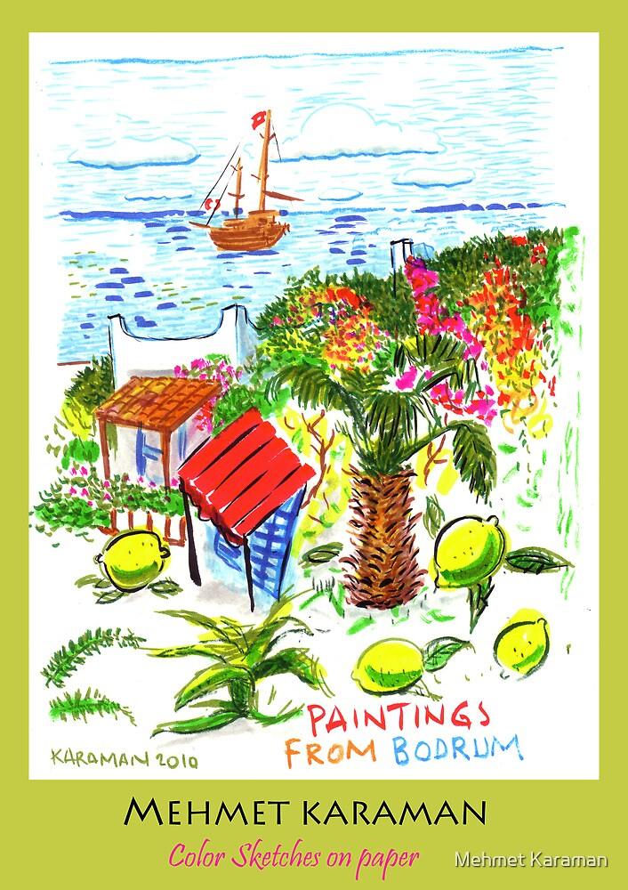 color sketchs on paper  by Mehmet Karaman