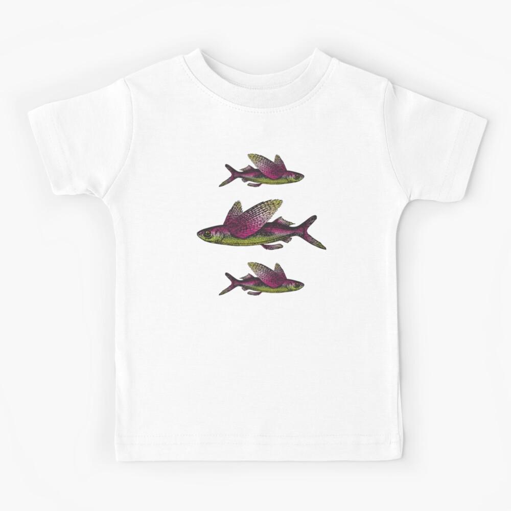 Flying Fish   Vintage Fish   Three Fish    Kids T-Shirt