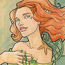 Tattooed Mermaid 11 by Karen  Hallion