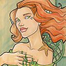 Tattooed Mermaid 11 by Karen  Hallion