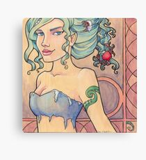 Tattooed Mermaid 8 Canvas Print
