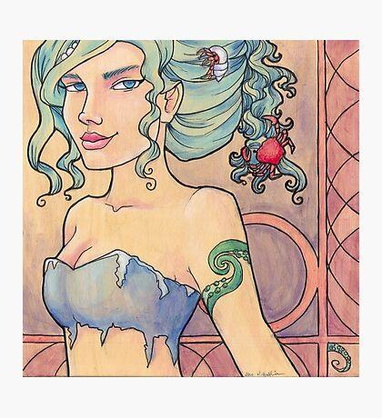 Tattooed Mermaid 8 Photographic Print