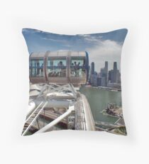 View from Singapore Flyer Throw Pillow