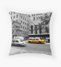 NYC Rockefeller Center Throw Pillow