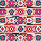 Kelim-Fülle-Muster - Erröten & amp; Türkisfarbene Palette von Cat Coquillette