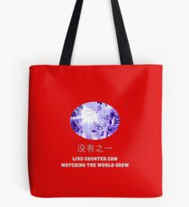 Live-Counter.com - Watching the World Grow Tote Bag