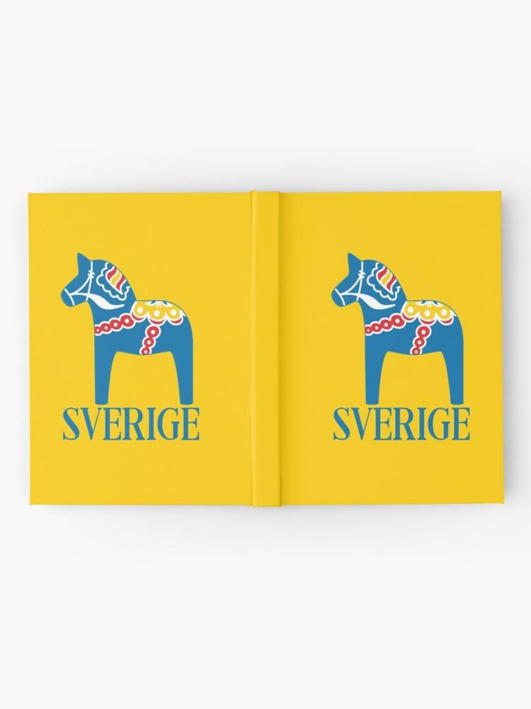 Alternative Ansicht von Sverige Dala Dalarna Sweden Pferd Dalecarlian Swedish Dalahost Notizbuch