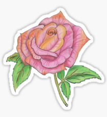 Colorful Rose Sticker