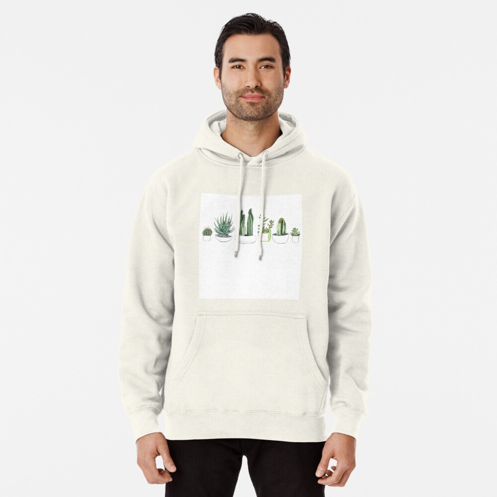 Watercolour cacti & succulents Pullover Hoodie
