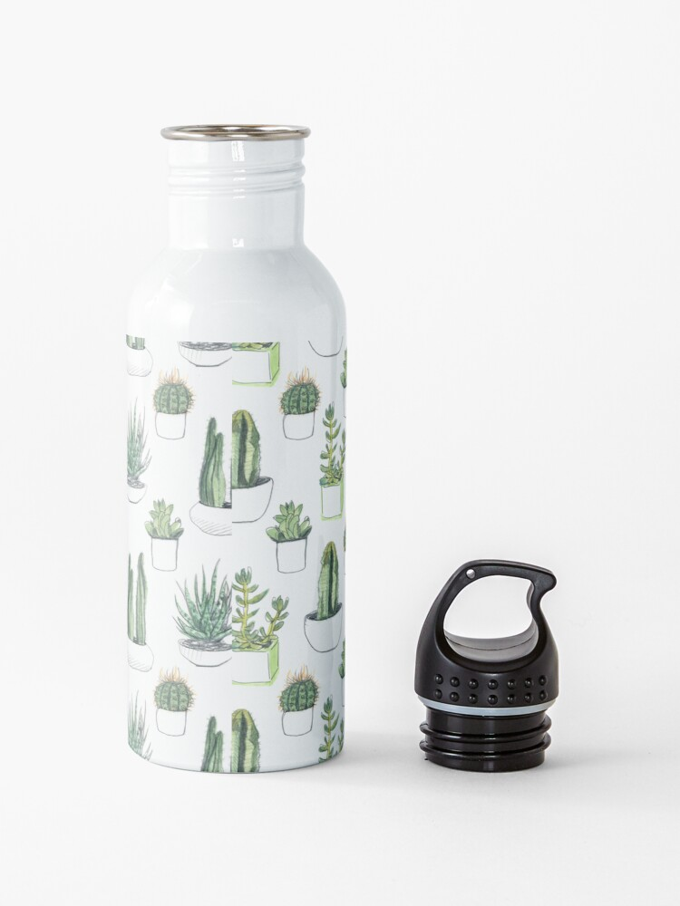 Alternate view of Watercolour cacti & succulents Water Bottle