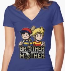 Another MOTHER - Ness & Lucas Women's Fitted V-Neck T-Shirt