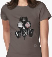 Gas mask revolution Womens Fitted T-Shirt