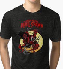 The Mouth Mercing Devil-Spawn Tri-blend T-Shirt