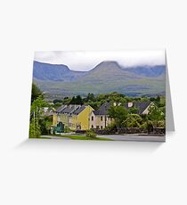Sneem town kerry Eire Greeting Card