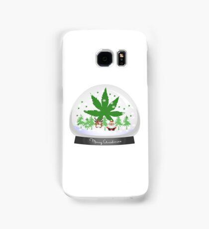 Merry Christmas Marijuana Snow Globe Samsung Galaxy Case/Skin