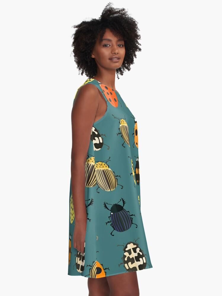 Alternative Ansicht von Nette Wanzen. A-Linien Kleid