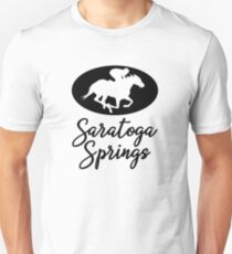 Pferd und Jockey Saratoga Springs New York Slim Fit T-Shirt