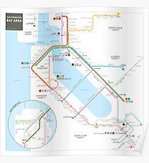 San Francisco Bay Area Transit Map Poster