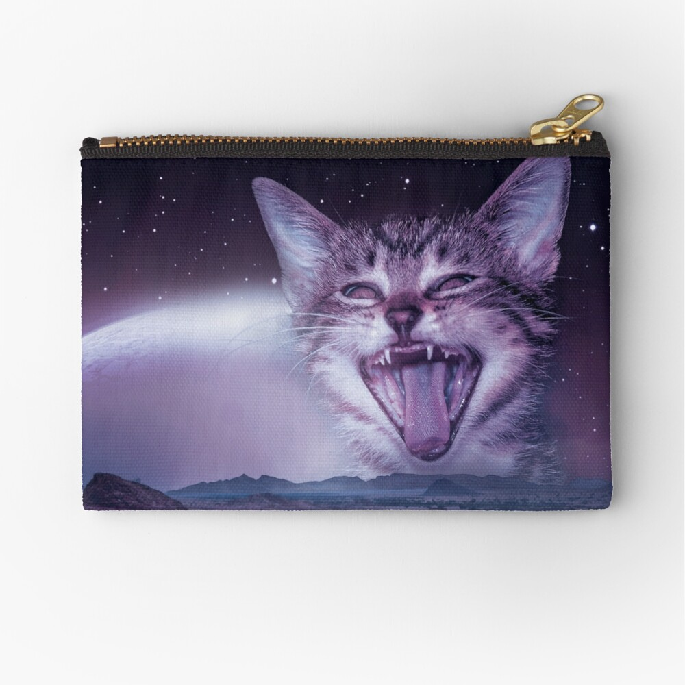 Planet Of The Cats Zipper Pouch