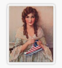 Betsy Ross with Sneaker Transparent Sticker