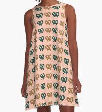 Minimalist Pretzel Party A-Line Dress