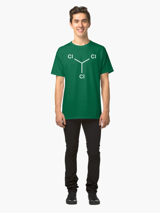Alternate view of Chloroform Chemical Molecule Structure Classic T-Shirt