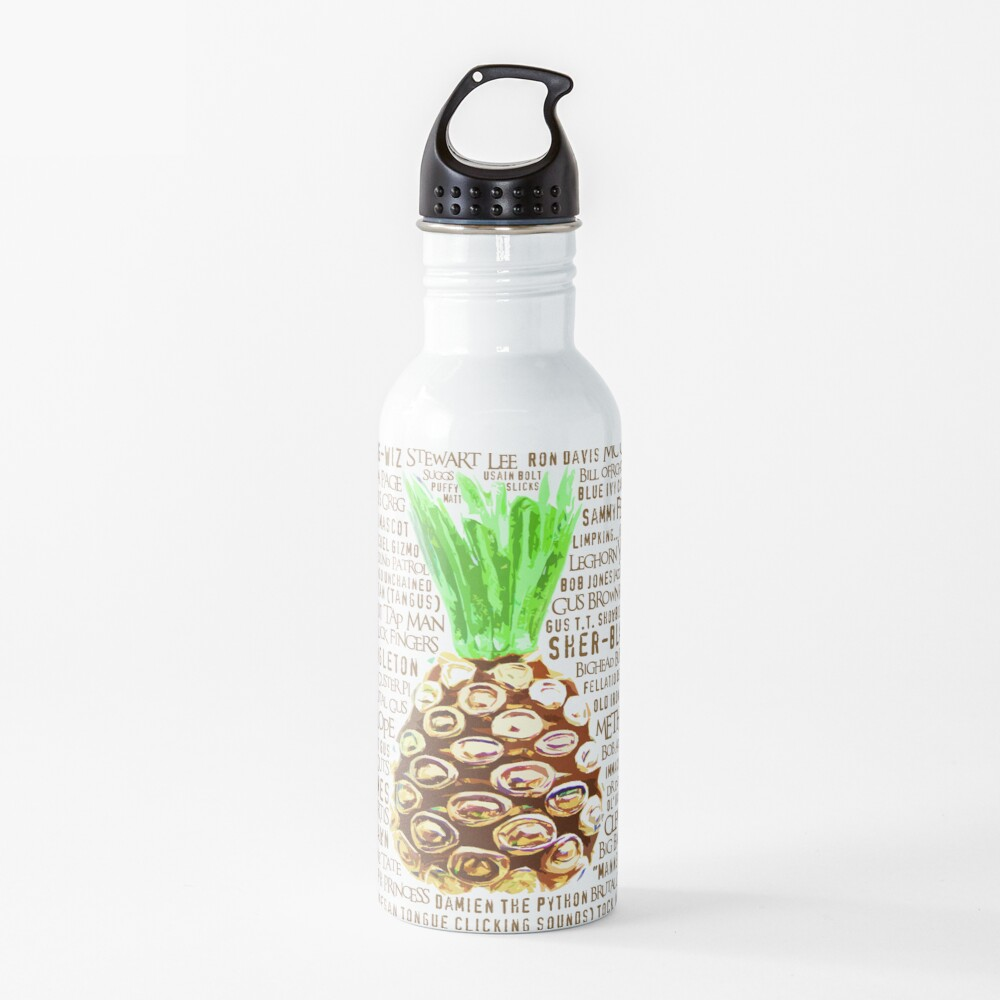Psych Burton Guster Nicknames - Television Show Pineapple Room Decorative TV Pop Culture Humor Lime Neon Brown Water Bottle