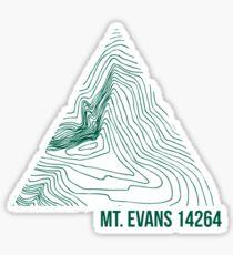 Mount Evans Topo Sticker