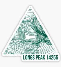 Longs Peak Topo Sticker