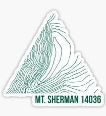 Mount Sherman Topo Sticker