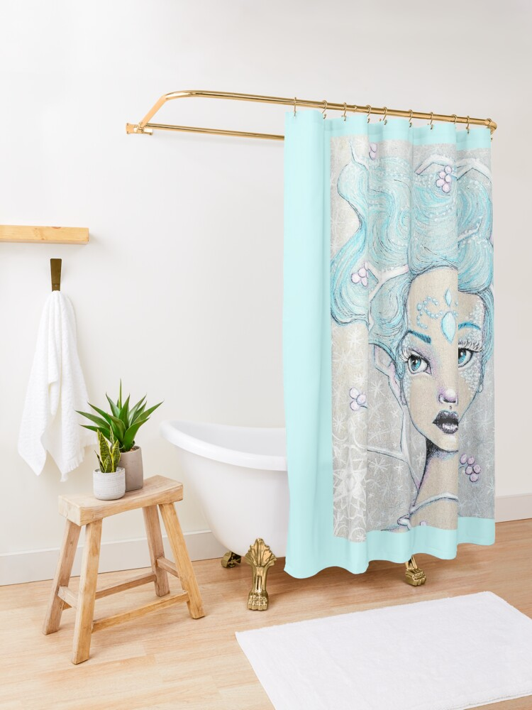 Alternate view of Ice Queen Shower Curtain