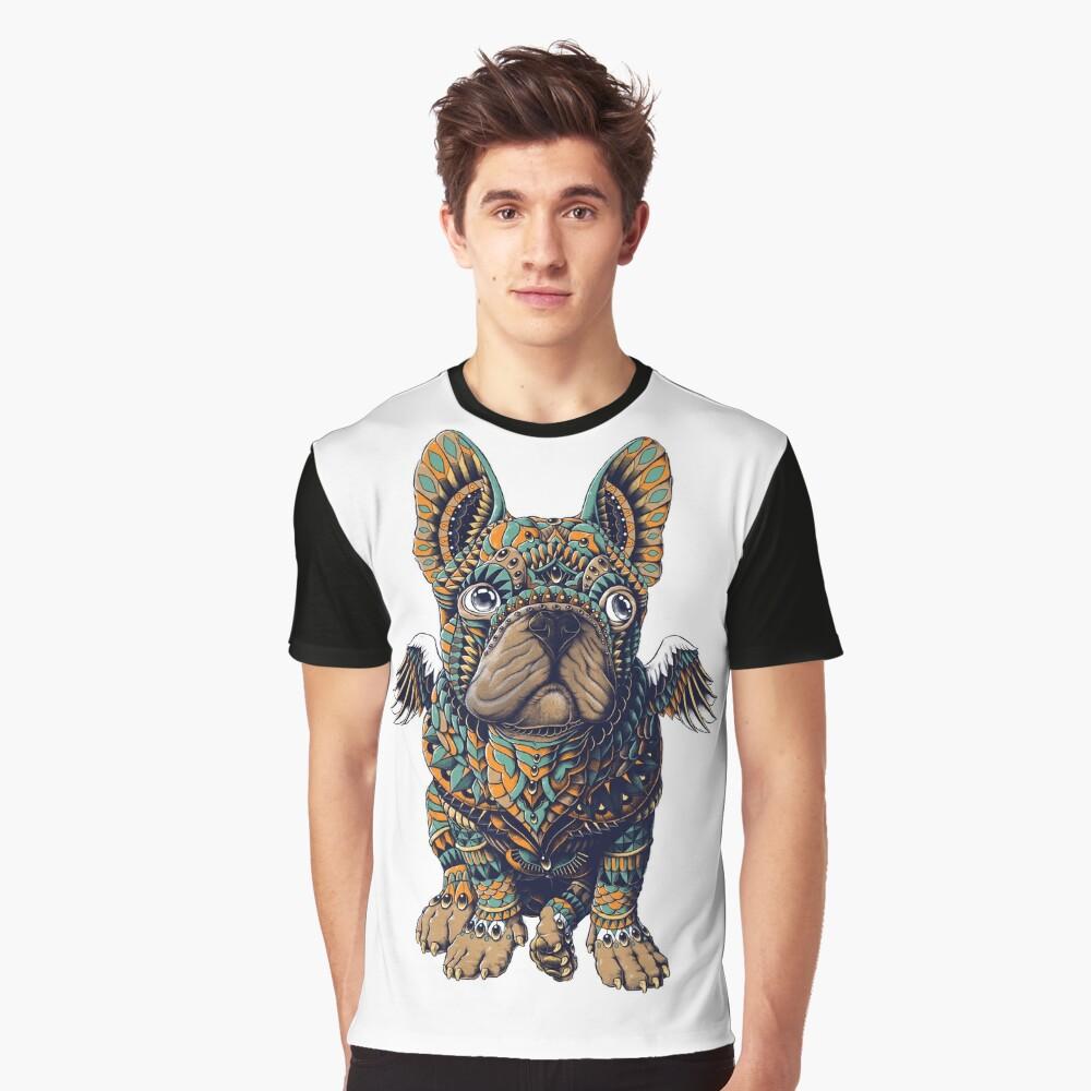 Frenchie Grafik T-Shirt