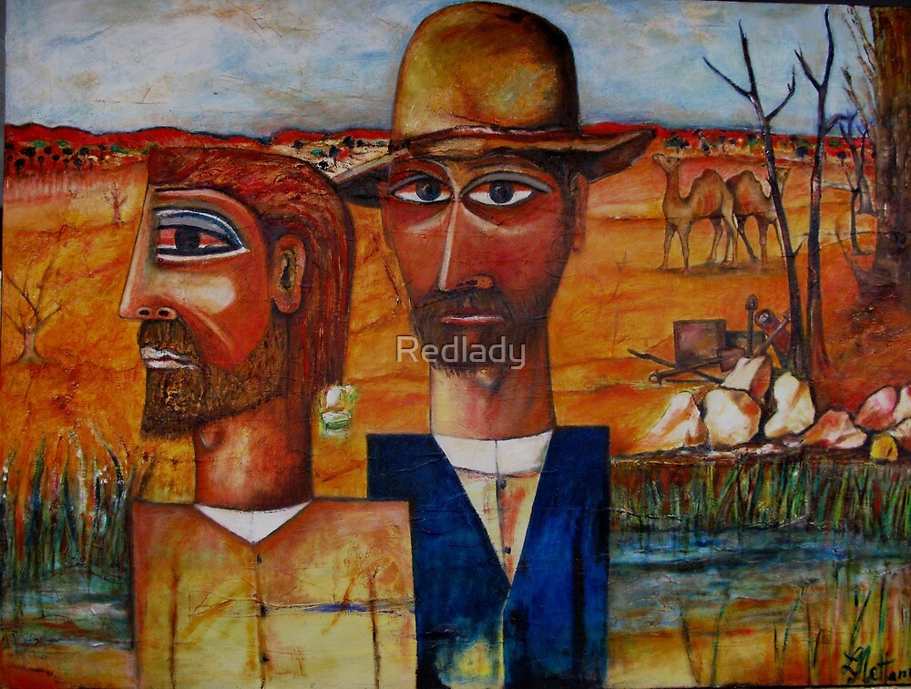 BOURKE AND WILLS AT COOPERS CREEK by Redlady
