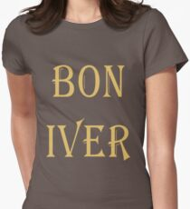 BON IVER Logo (SALE!) Women's Fitted T-Shirt