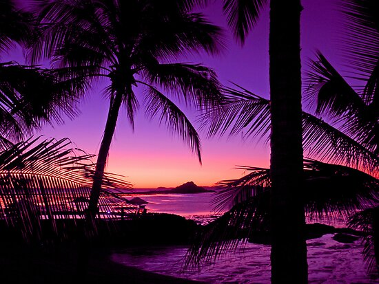 "Tropical Island Sunset: ""Tropical Island Sunset"" Posters By Chris Kean"