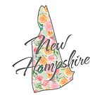 New Hampshire State | Floral Design with Roses von PraiseQuotes