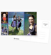 Bavarian Girls  Postcards