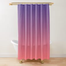 Twilight Purple and Coral Ombre Shower Curtain