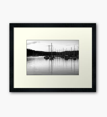 Monochrome Reflections #2 - Newport, Sydney - The HDR Experience Framed Print