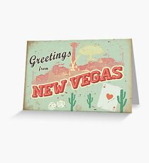New Vegas Postcard Greeting Card