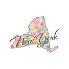 New York State | Floral Design with Roses von PraiseQuotes
