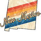 New Mexico State | Colorful Retro 70s Design von PraiseQuotes